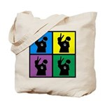 Color Peace Man Gear Tote Bag