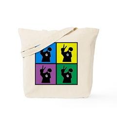 Color Peace Man Gear Tote Bag