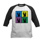 Color Peace Man Gear Kids Baseball Jersey