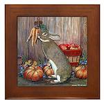Lil Brown Rabbit Framed Tile