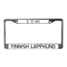 I Love Finnish Lapphund License Plate Frame