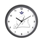 Masonic Friend To Friend Wall Clock