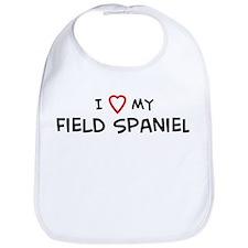 I Love Field Spaniel Bib