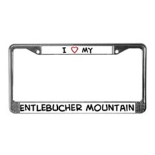 I Love Entlebucher Mountain License Plate Frame