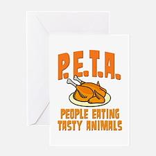 PETA People Eating Tasty Animals Greeting Card
