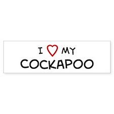 I Love Cockapoo Bumper Bumper Sticker