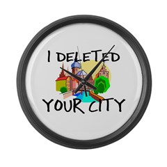 Deleted City Large Wall Clock