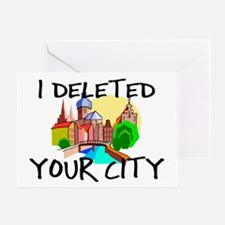 Deleted City Greeting Card