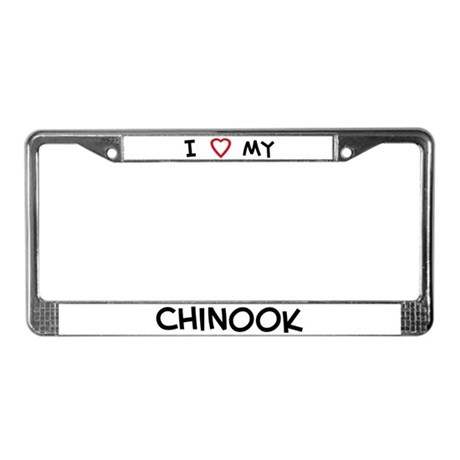 I Love Chinook License Plate Frame
