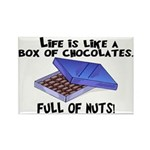 Full Of Nuts Rectangle Magnet (100 pack)