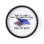 Full Of Nuts Wall Clock
