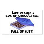 Full Of Nuts Sticker (Rectangle 10 pk)