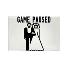 Game Paused Rectangle Magnet