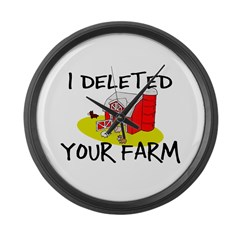 Deleted Farm Large Wall Clock