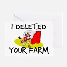 Deleted Farm Greeting Card