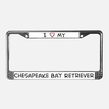 I Love Chesapeake Bay Retriev License Plate Frame