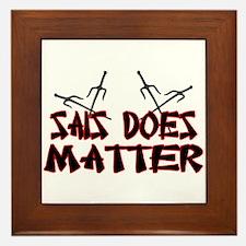 Sais Does Matter Framed Tile
