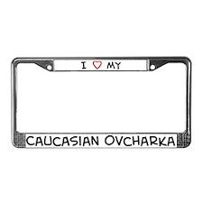 I Love Caucasian Ovcharka License Plate Frame