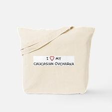 I Love Caucasian Ovcharka Tote Bag