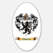 Edwards Family Crest Sticker (Oval)
