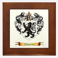 Edwards Family Crest Framed Tile