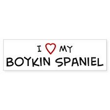 I Love Boykin Spaniel Bumper Bumper Sticker