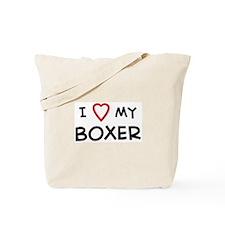 I Love Boxer Tote Bag