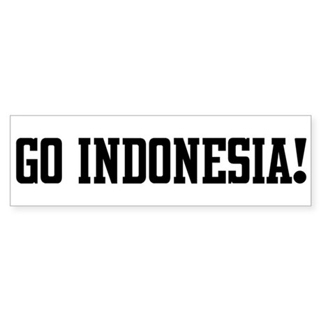 Go Indonesia! Bumper Sticker