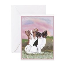 Two Papillons Greeting Card