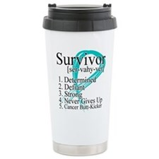 Survivor Ovarian Cancer Thermos Mug