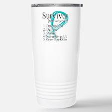 Survivor Ovarian Cancer Travel Mug