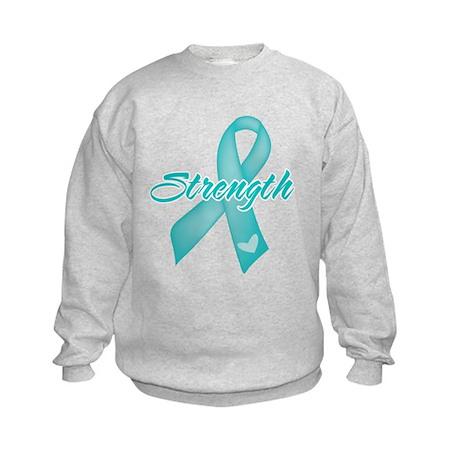 Strength - Ovarian Cancer Kids Sweatshirt