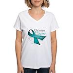 Ovarian Cancer Awareness Women's V-Neck T-Shirt