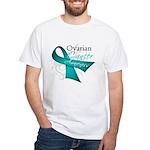 Ovarian Cancer Awareness White T-Shirt