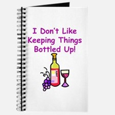 I don't like keeping things bottled up! Journal