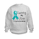 Supporting Hero Ovarian Kids Sweatshirt