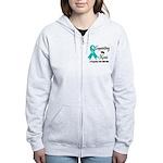 Supporting Hero Ovarian Women's Zip Hoodie