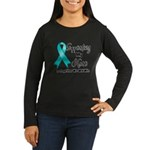 Supporting Hero Ovarian Women's Long Sleeve Dark T