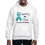 Supporting Hero Ovarian Hooded Sweatshirt