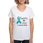 Supporting Hero Ovarian Women's V-Neck T-Shirt