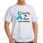 Supporting Hero Ovarian Light T-Shirt
