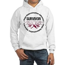 Throat Cancer Survivor Tribal Hoodie