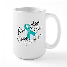 Love Hope Ovarian Cancer Ceramic Mugs