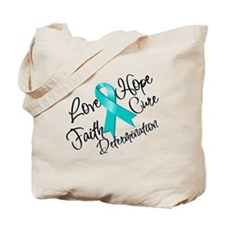 Love Hope Ovarian Cancer Tote Bag