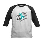 Love Hope Ovarian Cancer Kids Baseball Jersey