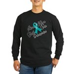Love Hope Ovarian Cancer Long Sleeve Dark T-Shirt