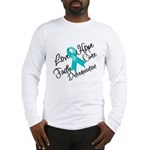 Love Hope Ovarian Cancer Long Sleeve T-Shirt