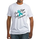 Love Hope Ovarian Cancer Fitted T-Shirt