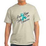 Love Hope Ovarian Cancer Light T-Shirt
