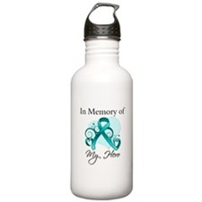 In Memory Hero Ovarian Cancer Sports Water Bottle